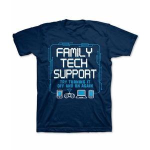 NWT Delta boy's Family Tech Support T-Shirt. Small